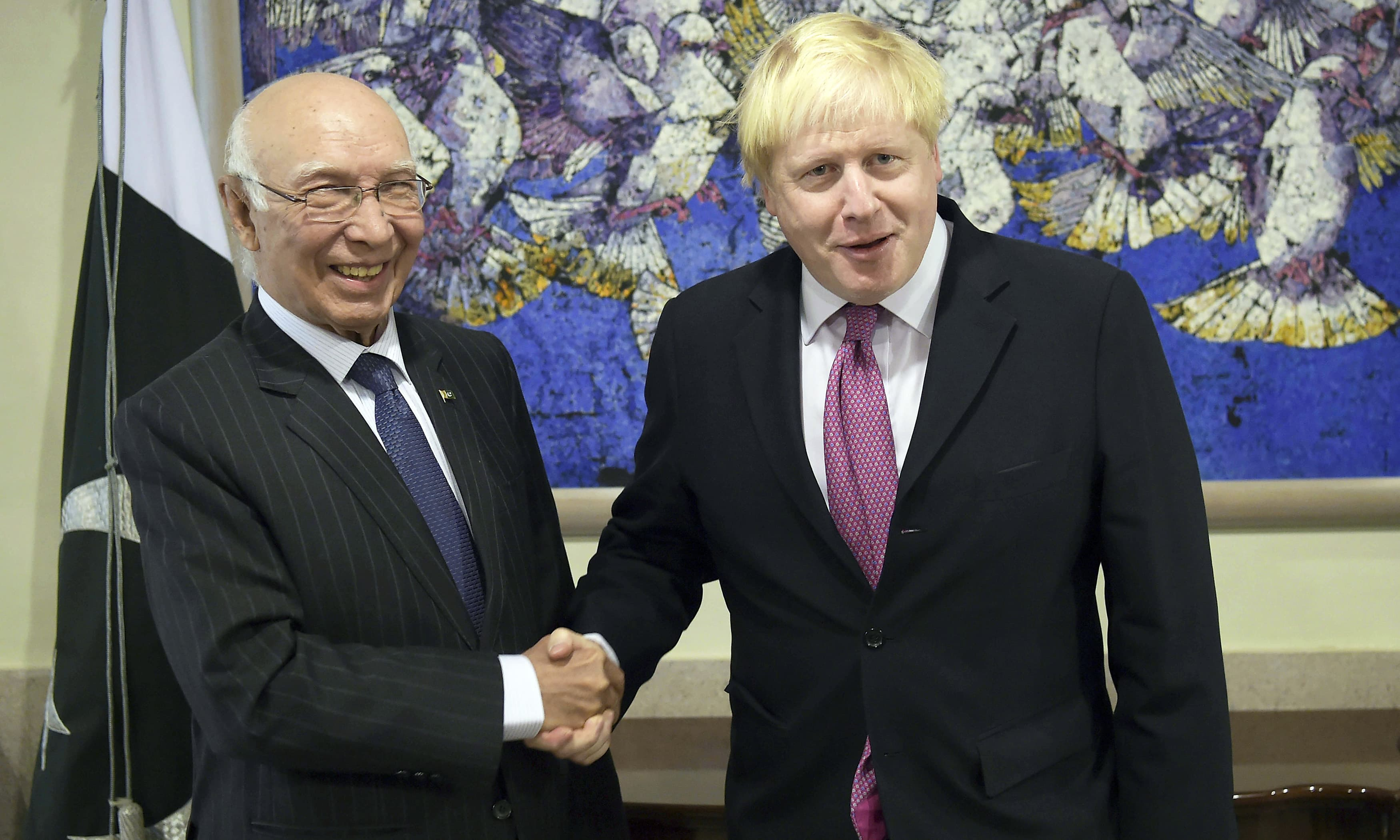 British Foreign Secy Boris Johnson arrives in capital: 'We call for an end to violence in Kashmir'
