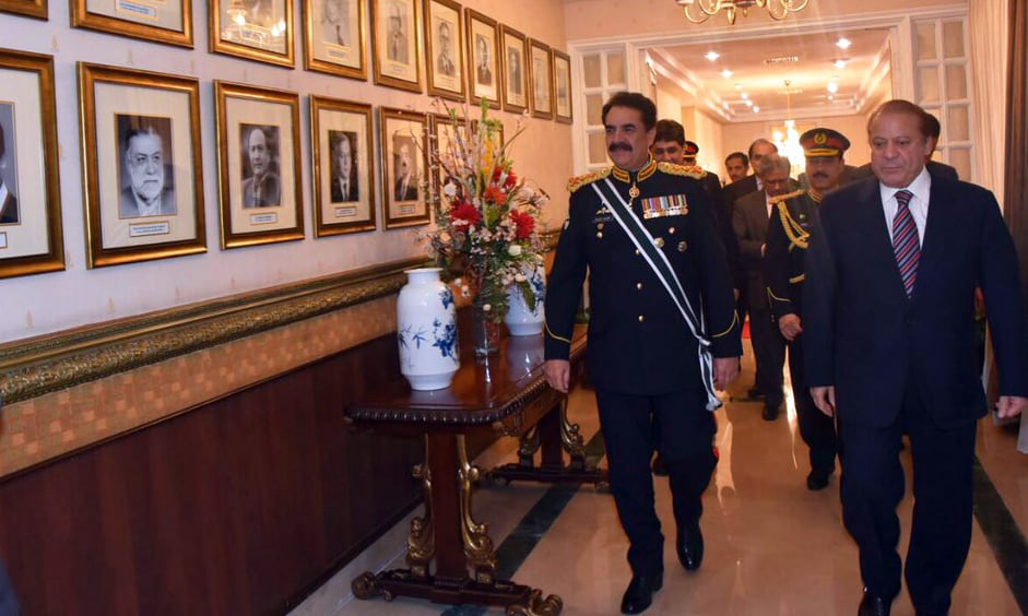 The farewell ceremony was held at PM House. ─Maryam Nawaz