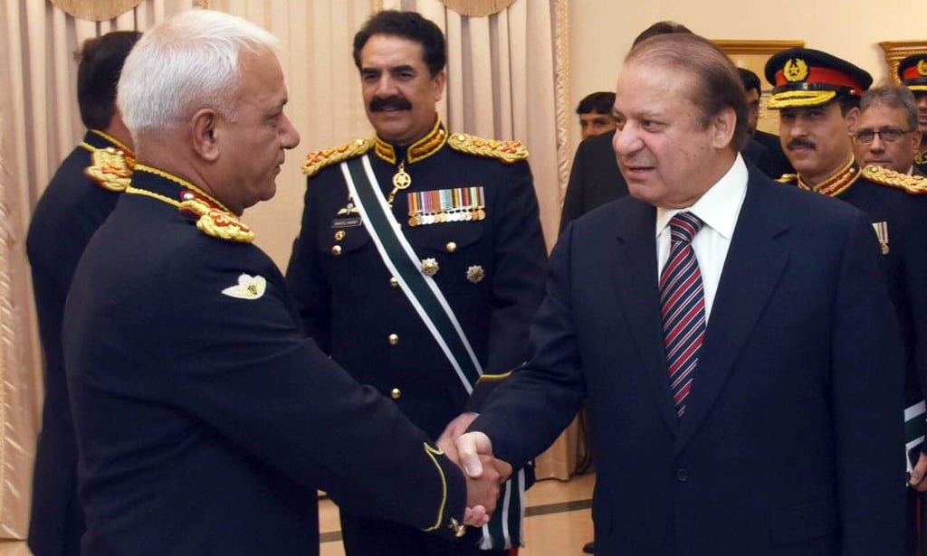 The farewell ceremony was attended by senior military leaders. ─Maryam Nawaz
