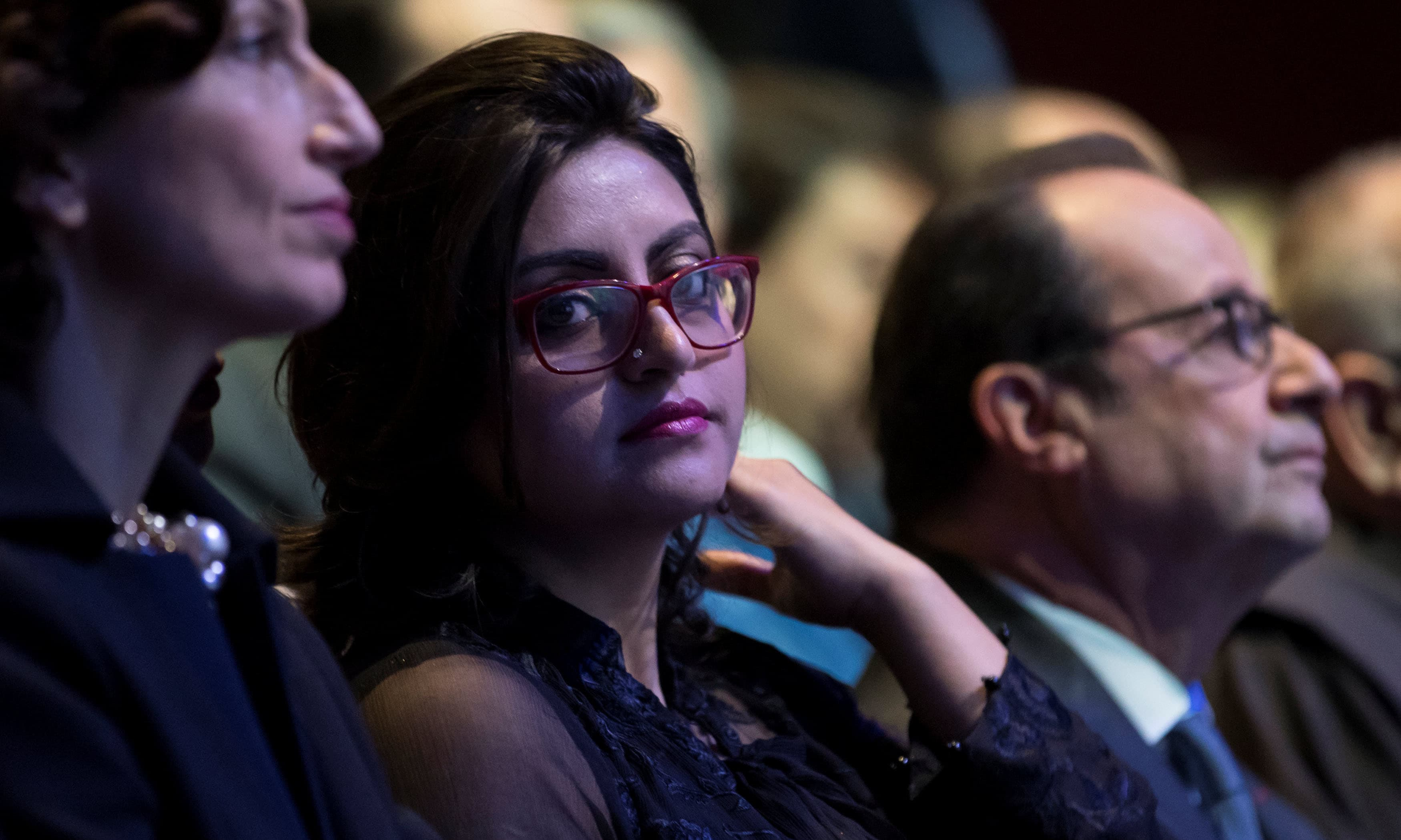 Gulalai Ismail at the award ceremony in Paris. ─Reuters