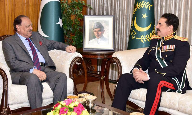 General Raheel Sharif has set traditions for other servicemen to follow, says president. -Radio Pakistan