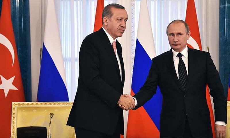 Erdogan, Putin discuss Syria as Turkish-backed rebels push to Al Bab