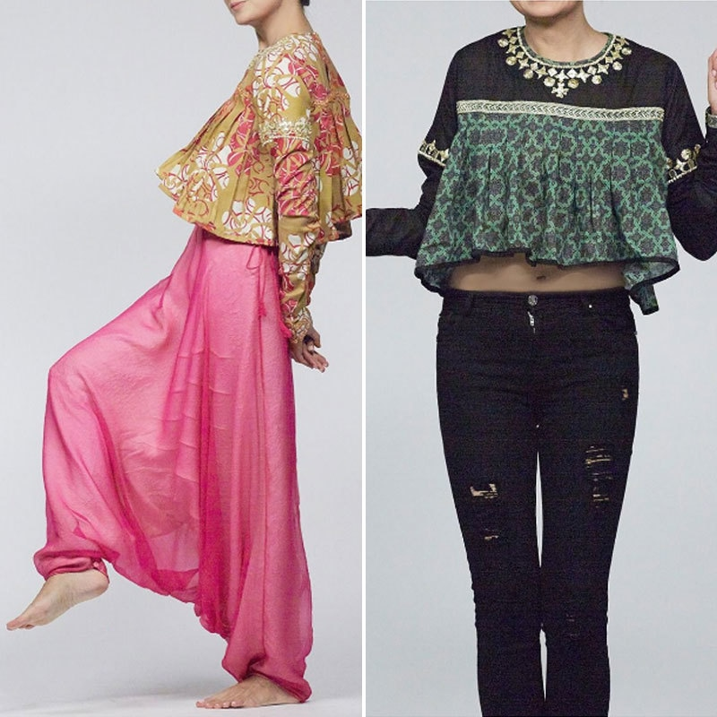 Ali Xeeshan's collection on My Fashion Fix website features some dramatic but fun crop tops. Photo: myfashionfix.com