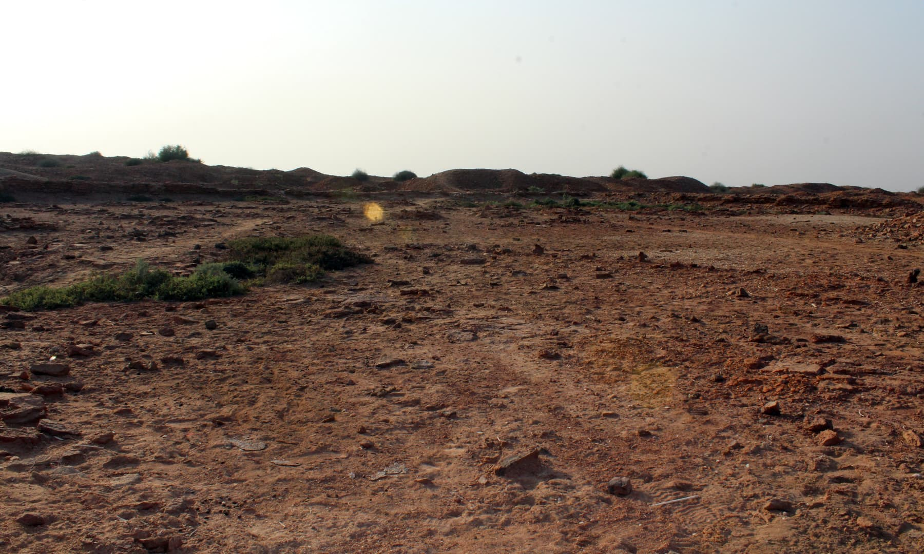 وہ جگہ جہاں مسجد قائم کی گئی تھی۔— فوٹو اختر حفیظ