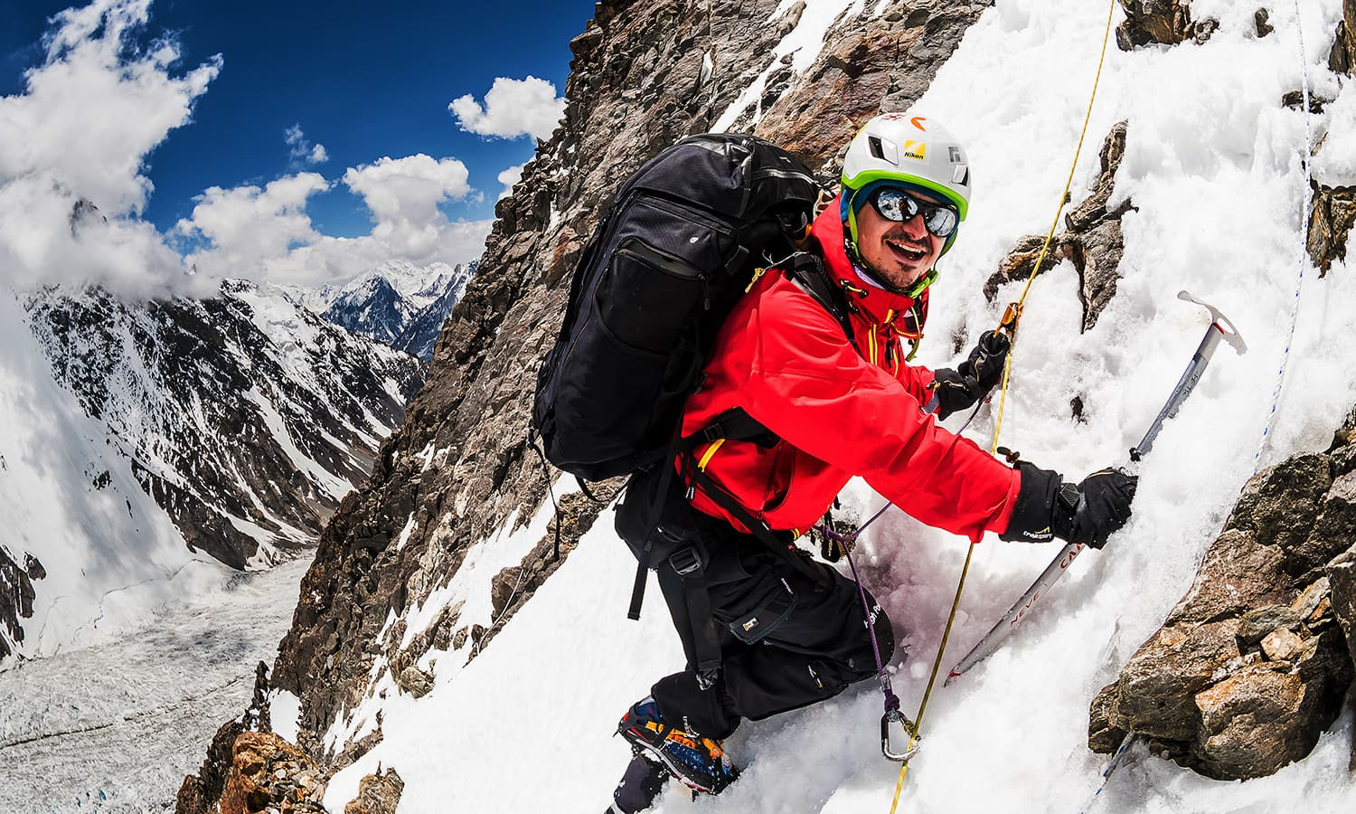 Petr climbing K2. The photographer joined Klára Kolouchová's team in the hopes of capturing photos at the highest level possible. — Photo by Petr Jan Juračka