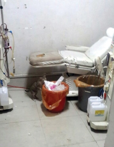 A picture of the dialysis unit at KTH speaks for itself. — Dawn