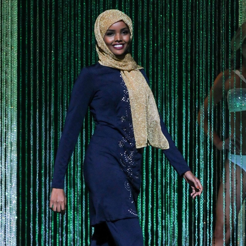 """""""The hijab is a symbol that we wear on our heads,"""" she says. Photo: NPR.ORG"""
