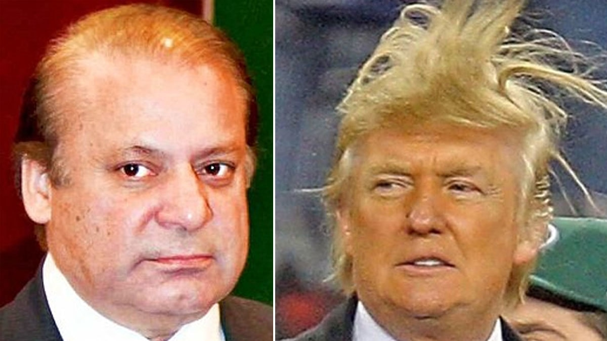 Sharif and Trump desperately trying to convince people they have real locks.