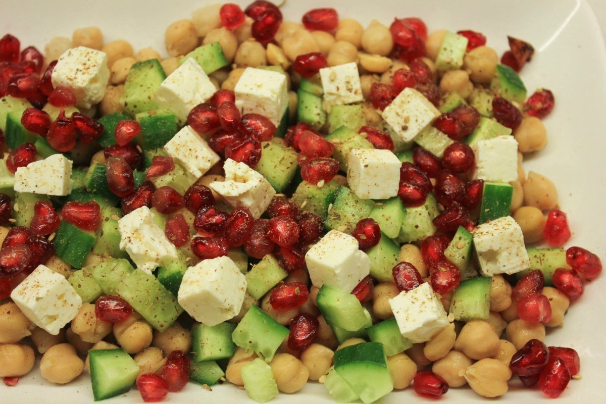 The pomegranate gives the perfect zing to this salad!