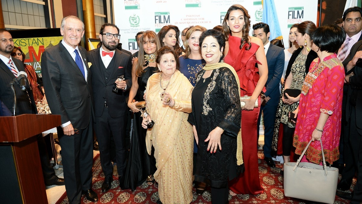 Maleeha Lodhi with Lollywood queen Sabiha Khanum at the first Pakistan Film Festival in New York City