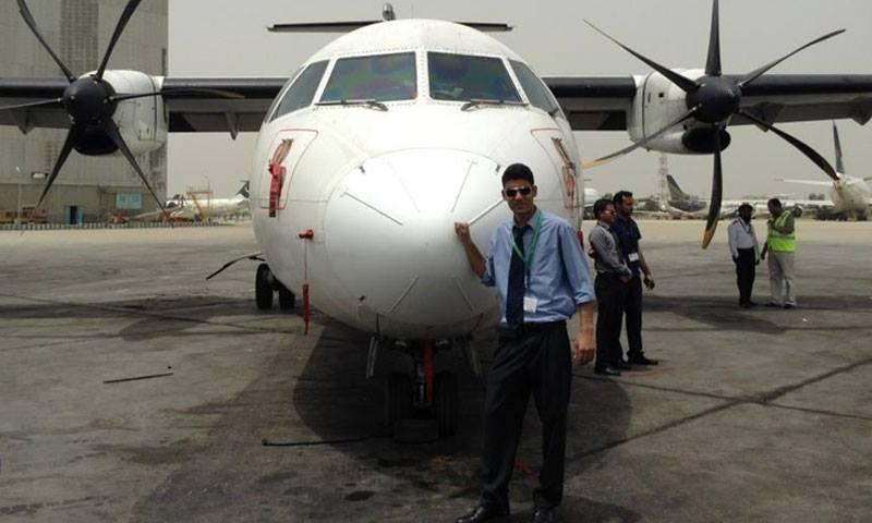 پائلٹ احمد منصور جنجوعہ — فوٹو : بشکریہ فیس بک اکاؤنٹ