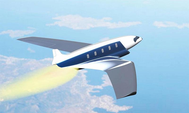 اینٹی پوڈ طیارے کا تصوراتی منظر — فوٹو بشکریہ چارلس بومبر ڈئیر