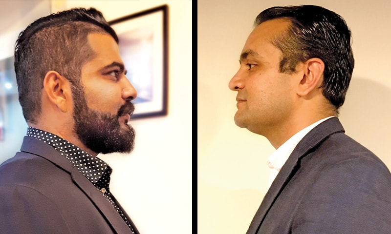 (L to R): Naved Qureshi and Muzakir Ijaz.