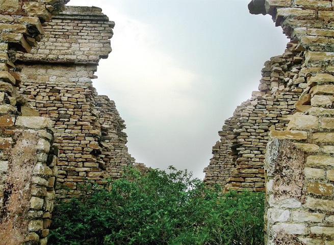 The ruins of a dak bungalow in Sardhi village.