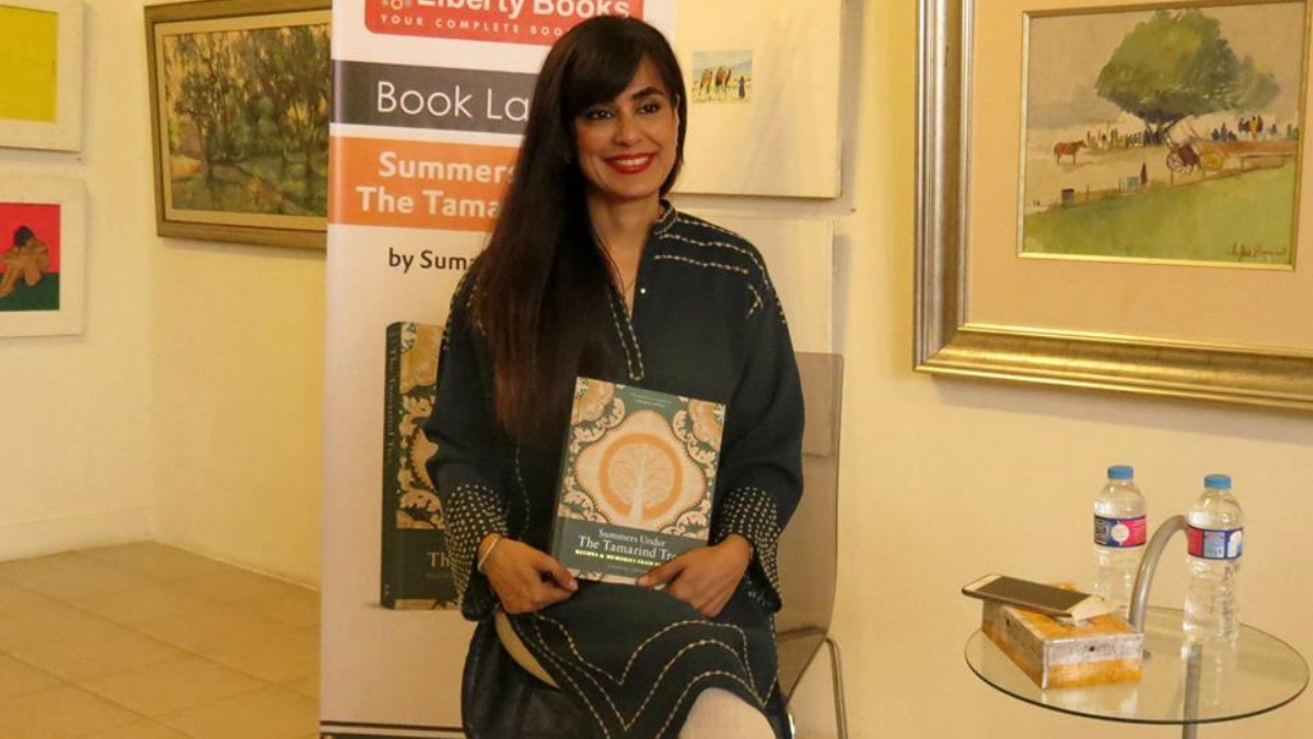 Summaya Usmani at the launch of her cookbook in Karachi - Photo courtesy ArtChowk Gallery