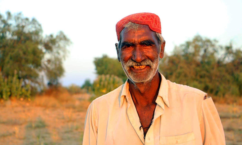 A villager in Sahiyaro, Tharparkar.