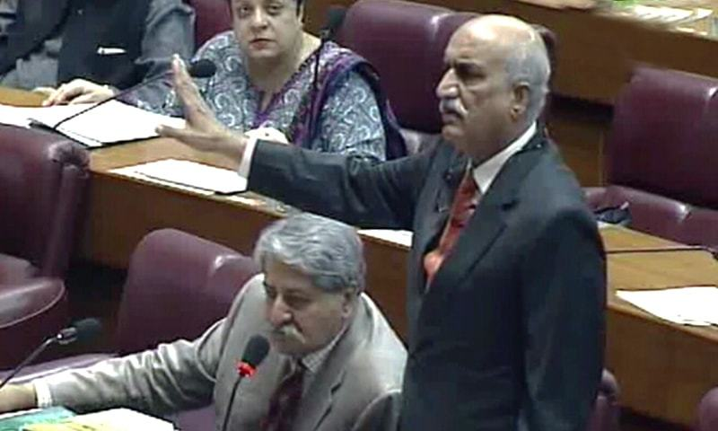 Image result for خورشید شاہ اسمبلی اجلاس