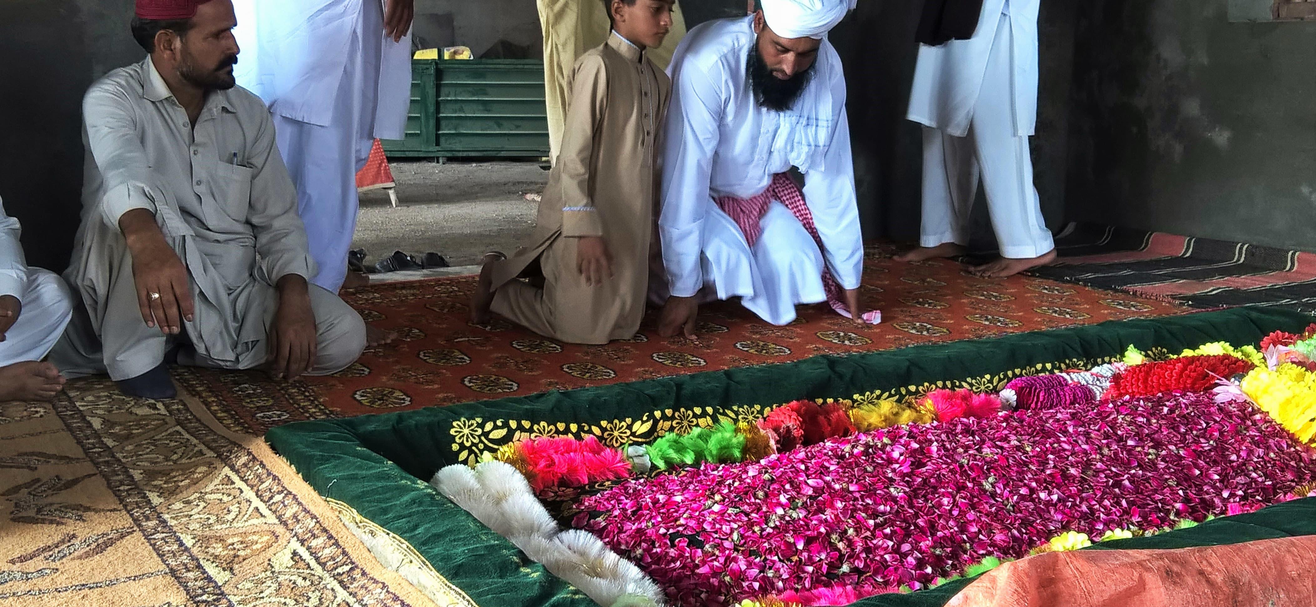 Mumtaz Qadri's grave.