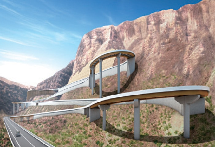 DERA GHAZI KHAN: The design of steel bridges that will enable vehicles to cross Girdo mountains. — Dawn