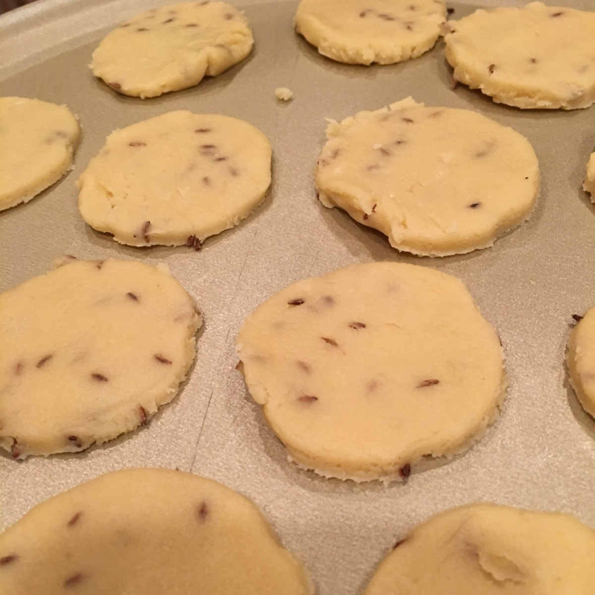 Right before they go into the oven