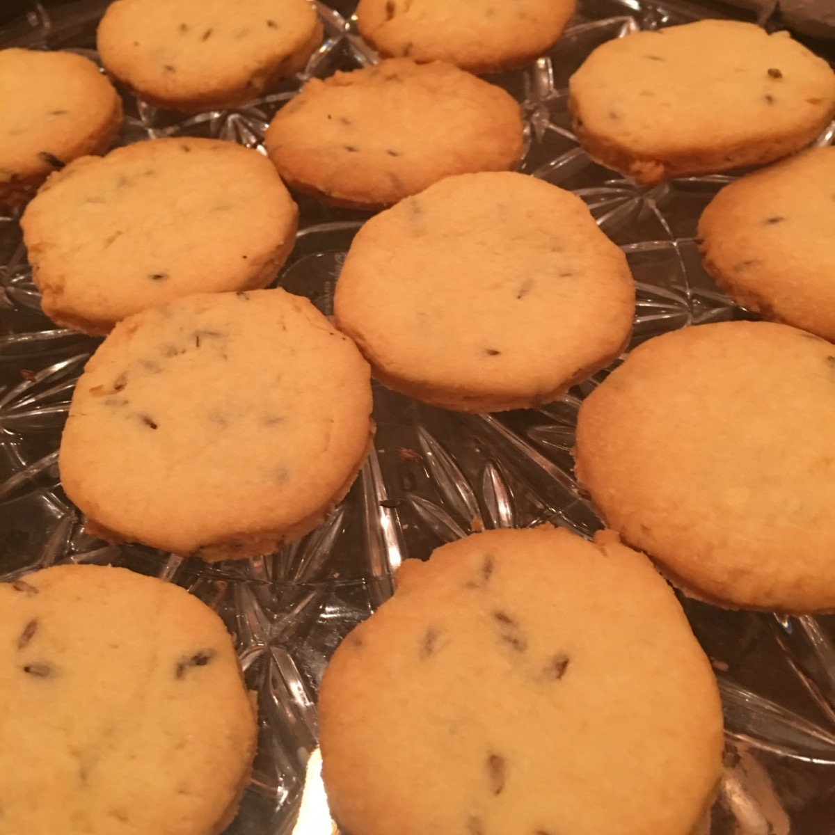 Crispy, flaky zeera biscuits fresh out of the oven