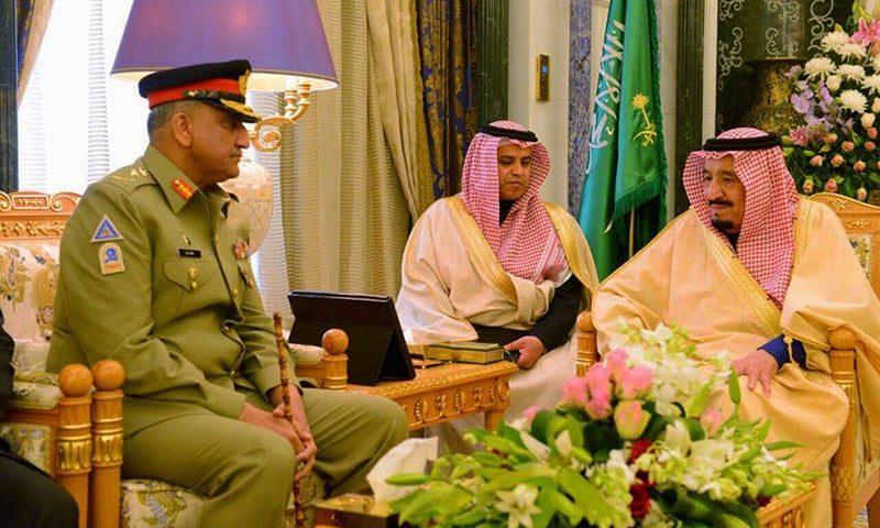 The Saudi king and the army chief agreed that both the countries share great history of cordial relations and deep spirit of brotherhood. —Photo courtesy ISPR