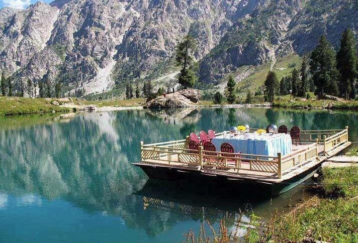 Domial Lake near GB's second largest town, Skardu (Pic: Native Pakistan).