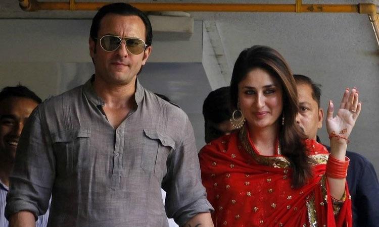 بولی وڈ اداکارہ کرینہ کپور خان اور سیف علی خان نے 2012 میں شادی کی — فوٹ/ فائل