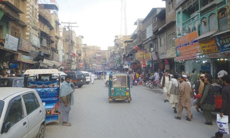 The ancient Qissa Khwani Bazar in KP's capital city of Peshawar.