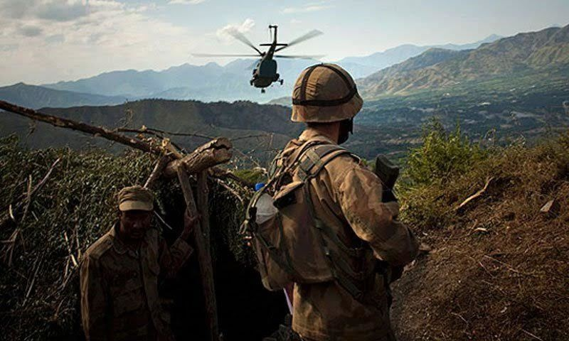 Soldiers of the Pakistan Army guarding a base in Pakistan's volatile tribal area. The rugged beauty of this area has been tainted by years of extremist militancy. The government and armed forces of Pakistan finally conducted an intensive operation here to rid it of militant groups. (Pic: ISPR)