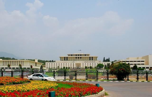 The Parliament House/National Assembly building.