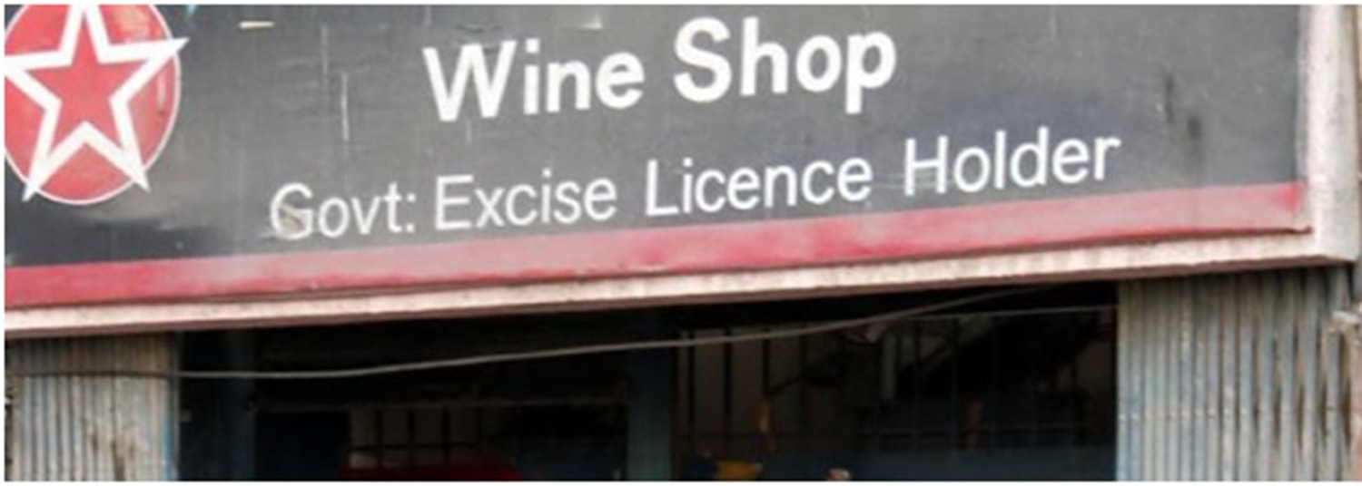 A licensed liquor store in Karachi. The government of Sindh earns revenues up to Rs 4 billion annually from these shops. These stores have also largely kept in check the proliferation of bootlegging mafias in Sindh who thrive in areas where there are no such shops.