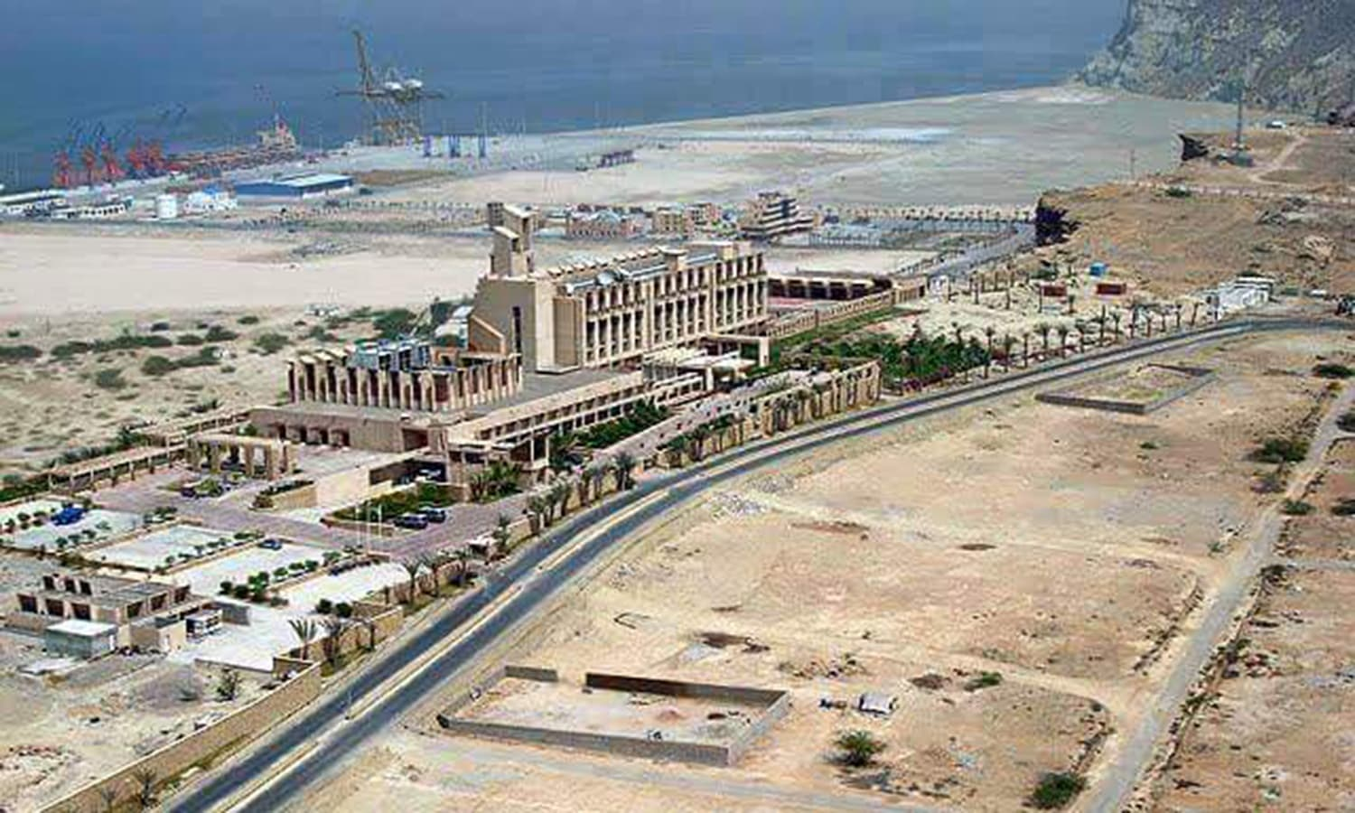 Balochistan's port city Gwadar being developed with the help of China. (Pic: Husnain Amjad)