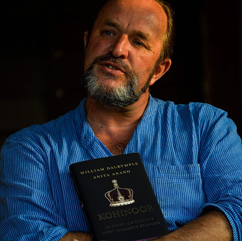 Scottish historian and writer William Dalrymple poses at his farm house in New Delhi.— AFP