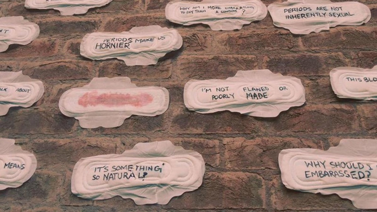 When students from Beaconhouse National University (BNU) taped 25 sanitary pads on their university's wall in order to tackle period-shaming, many men started squirming. - Photo: Mavera Rahim/Facebook