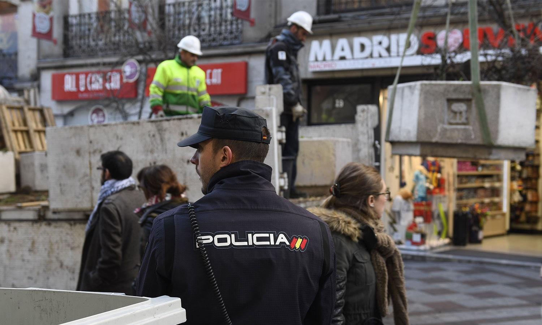 اسپین کے شہر میڈرڈ میں غیر معمولی حفاظتی انتظام کیے گئے ہیں—فوٹو:اے ایف پی