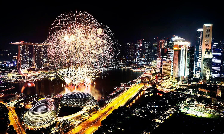 سنگاپور کا فنانشل ڈسٹرکٹ — فوٹو: اے پی