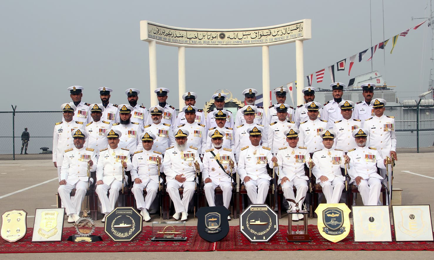Pakistan Navy Making Efforts To Acquire Modern Warships Admiral Tendencies Back Pack Arcus Group Photo Of Zakaullah With Commanding Officers Prize Winner Units During