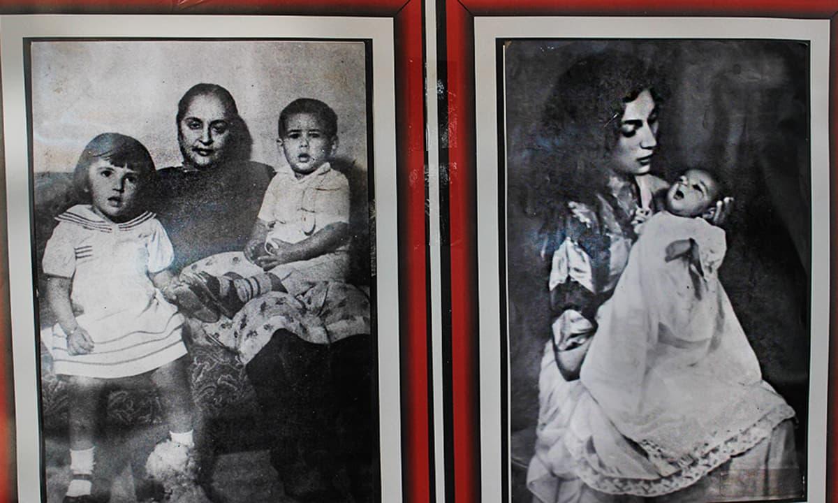 ذوالفقار علی بھٹو کی والدہ خورشید بیگم اپنے پوتے پوتیوں کے ساتھ تصویر میں موجود ہیں
