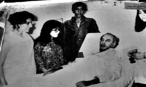 ذوالفقار علی بھٹو کے گھر والے ان سے ہسپتال میں ملاقات کر رہے ہیں