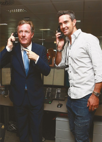 Piers Morgan and Kevin Pietersen