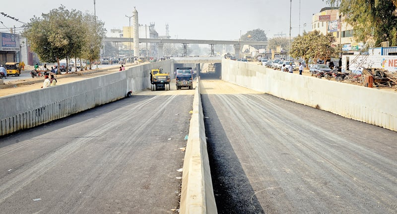 WORK is finally nearing completion on the Golimar underpass.—White Star