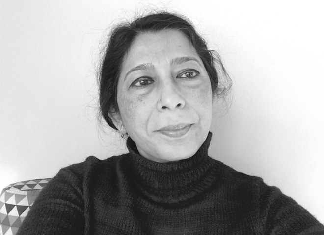 Mehr Afshan Farooqi is associate professor in the Department of Middle Eastern and South Asian Languages and Cultures at the University of Virginia. She is currently writing a commentary on the mustarad kalam of Ghalib.