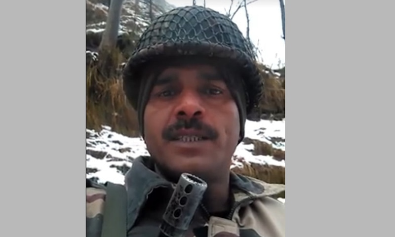 Indian soldier in Kashmir complains of deplorable food, frequent hunger