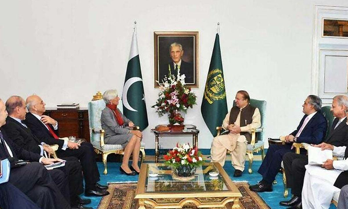 International Monetary Fund Managing Director Christine Lagarde meets Prime Minister Nawaz Sharif at PM House | dawn.com