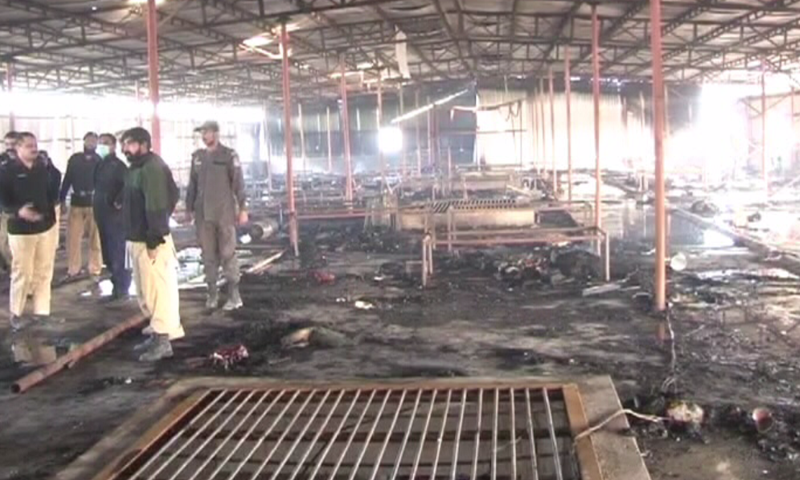 The aftermath of the fire.— DawnNews