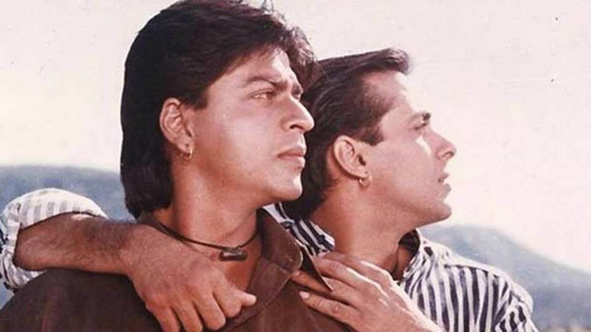 The two together in 'Karan Arjun.'