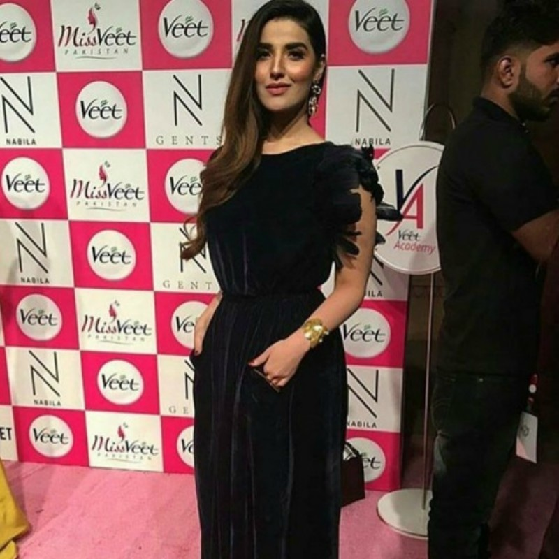 Hareem Farooq's sleeves were questionable —Photo courtesy: Page 3 Magazine's Instagram