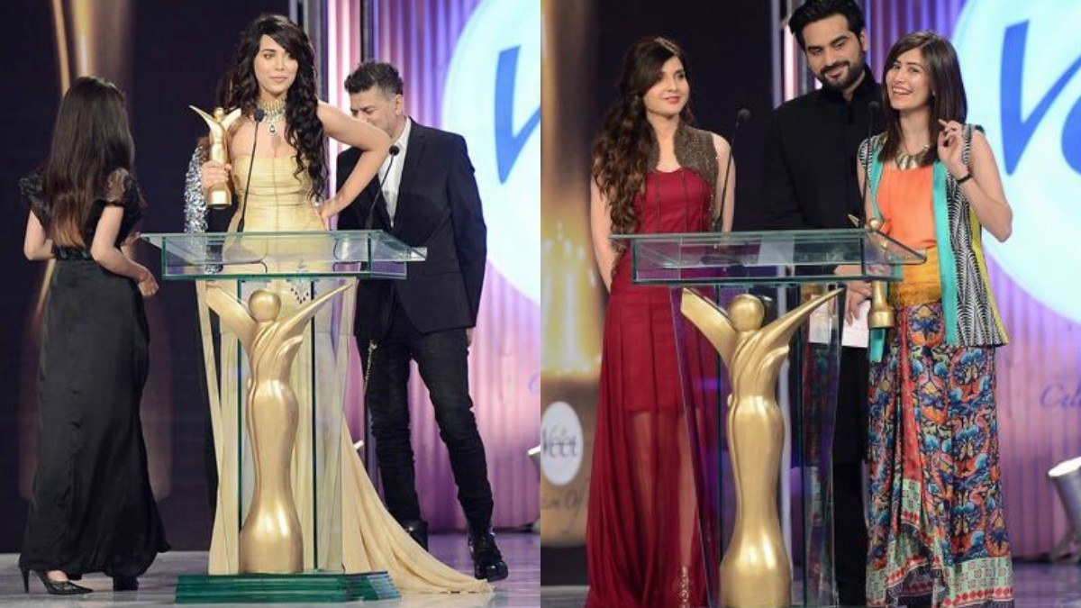 Ex-model Ayyan and actor Syra Shahroz won Most Beautiful Skin and Most Beautiful Smile at the Veet Celebration of Beauty Awards 2013