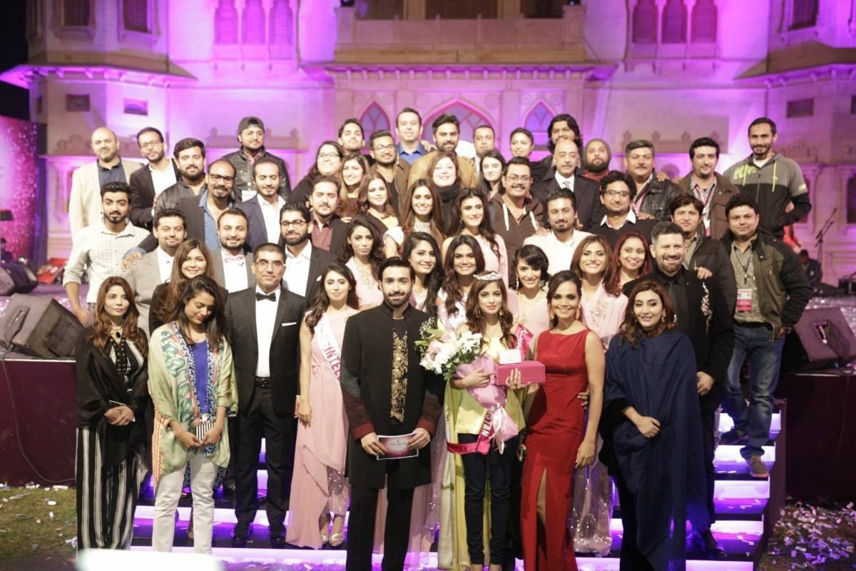 The contestants and judges with the Veet corporate team at the grand finale of Miss Veet
